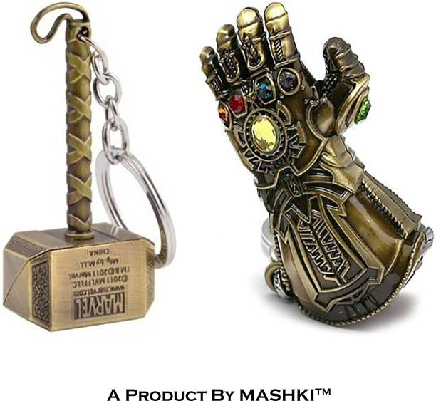 MASHKI Guanlet & Marvel Avengers Infinity War Thor Hammer Mjolnir key ring Key Chain