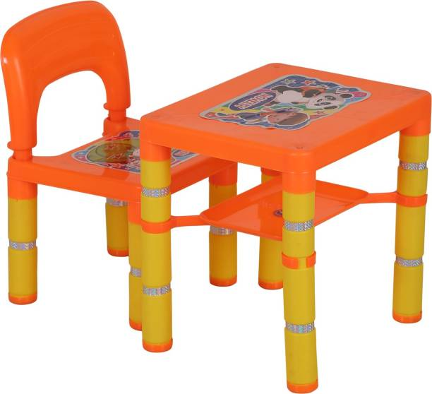 Archana Novelty Multipurpose Table And Chair Set For Study, Dining And Many More Activites Plastic Desk Chair