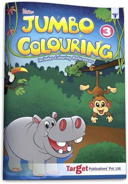 Blossom Jumbo Creative Colouring Book For Kids | 6 To 8 Years Old | Best Gift To Children For Drawing, Coloring And Painting With Colour Reference Guide | A3 Size