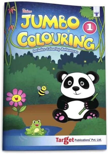Blossom Jumbo Creative Colouring Book For Kids | 3 To 5 Years Old | Best Gift To Children For Drawing, Coloring And Painting With Colour Reference Guide | A3 Size