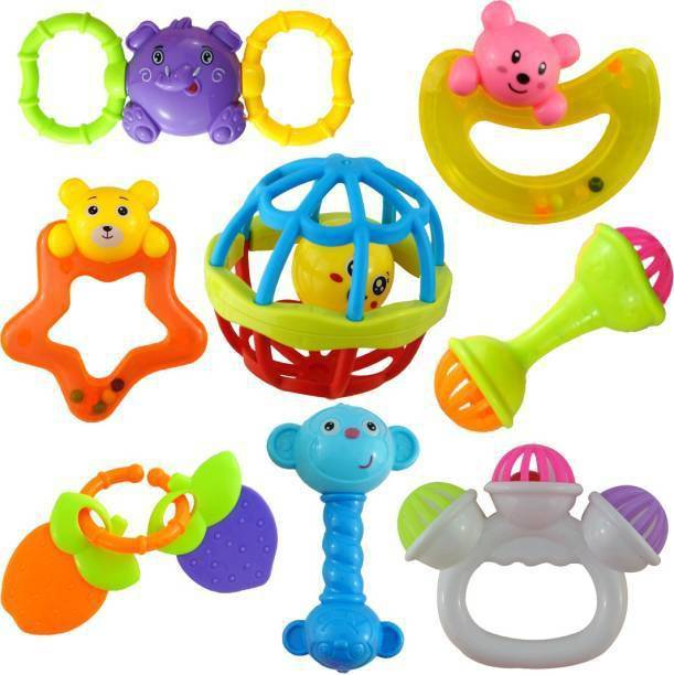 napster Rattle and Teether Toys Set for Babies Rattle