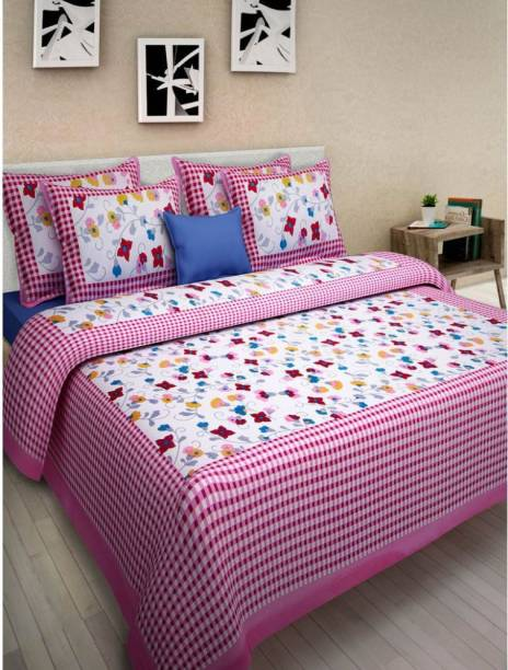 mohit creation 222 TC Cotton Double Printed Bedsheet