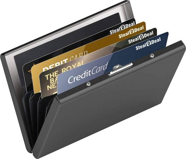 StealODeal RfID Protected Slim Stainless Steel Debit/Credit 6 Card Holder