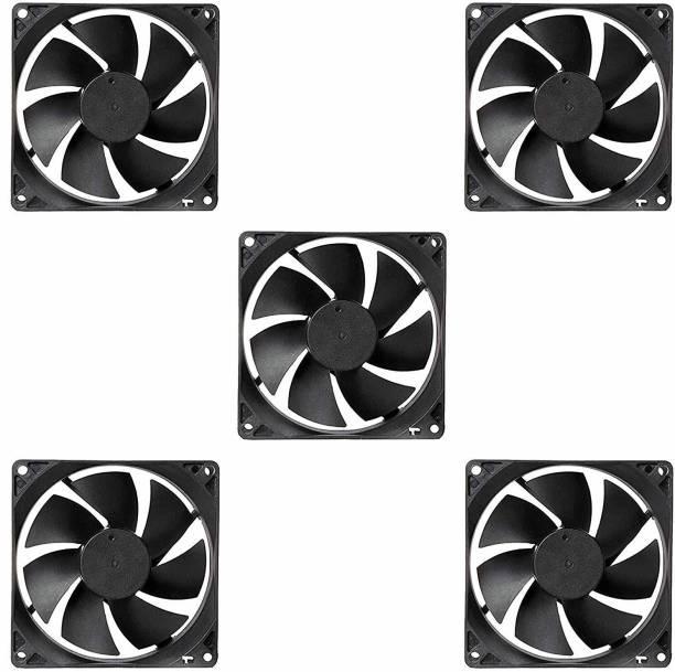 Electronic Spices PACK OF 5 DC 12V Cooling Fan for PC Case, CPU Cooler Radiator (Black) Cooler