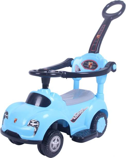 Miss & Chief 3 in 1 Deluxe Push Handle Rideons & Wagons Non Battery Operated Ride On