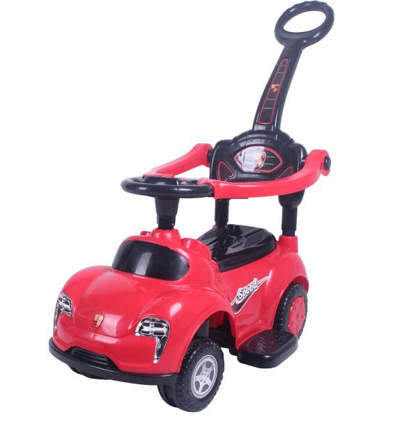 Miss & Chief 3 in 1 Deluxe Push Handle Car Non Battery Operated Ride On
