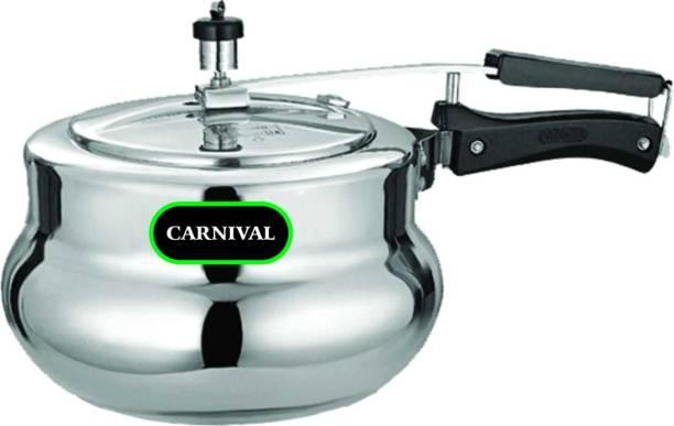 Carnival ALUMINIUM PRESSURE COOKER DESIRE(HANDI MODEL) 1.5 LTR (INNER LID) PURE VIRGIN ALUMINIUM 1.5 L Pressure Cooker