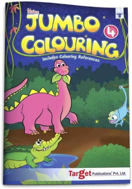 Blossom Jumbo Creative Colouring Book For Kids | 8 To 10 Years Old | Best Gift To Children For Drawing, Coloring And Painting With Colour Reference Guide | A3 Size