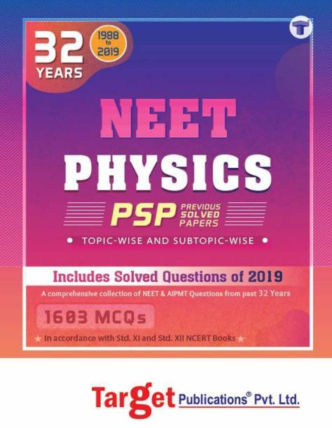 32 Years NEET And AIPMT Physics Chapterwise Previous Year Solved Question Paper Book (PSP) | Topicwise MCQs With Solutions | 1988 To 2019 | Smart Tool To Crack NEET 2020