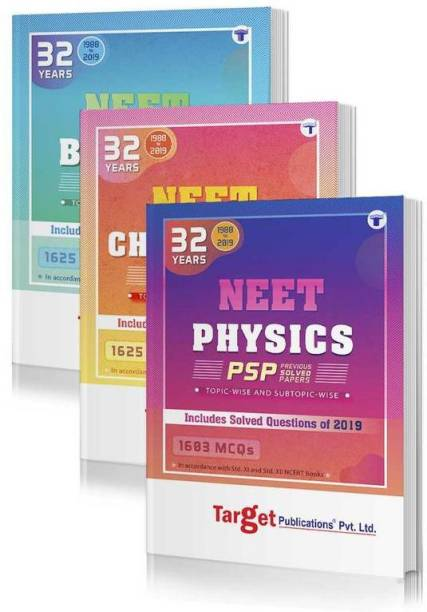 32 Years NEET And AIPMT PCB (Physics, Chemistry, Biology) Chapterwise Previous Year Solved Question Paper Books (PSP) | Topicwise MCQs With Solutions | 1988 To 2019 | Smart Tool To Crack NEET 2020