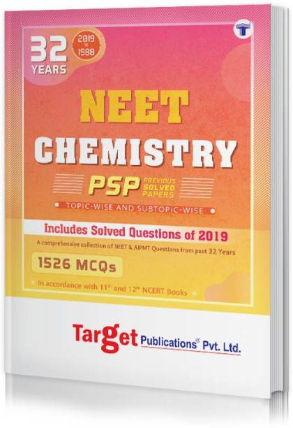 32 Years NEET And AIPMT Chemistry Chapterwise Previous Year Solved Question Paper Book (PSP) | Topicwise MCQs With Solutions | 1988 To 2019 | Smart Tool To Crack NEET 2020