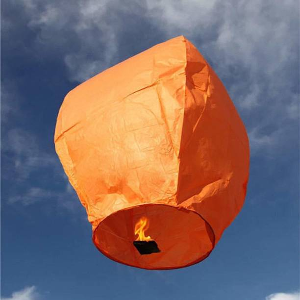 XYDROZEN ™Lanterns HOT AIR Ballons   2B14 Orange Paper Sky Lantern