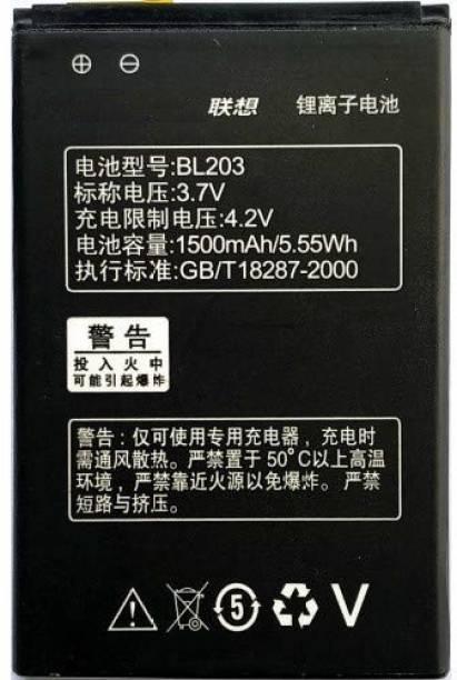 GIFFEN Mobile Battery For  LENOVO Lenovo-BL-203 A66 A278T A365E A308T A369 A318T A385E A380E A396 A228T A238T BL-203