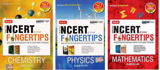 MTG NCERT FINGERTIPS PHYSICS,CHEMESTRY,Mathematics (Obejective) For JEE/NEET/AIIMS Made Esay, Objective NCERT At Your Fingertips For JEE/NEET-AIIMS - Physics,Chemestry,Mathematics(PCM) NCERT FINGERTIPS PCM COMBO(NCERT,FINGERTIPS,PCM,Paperback,PHYSICS,CHEMESTRY,Mathematics)