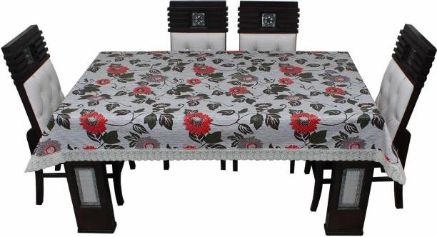 KARTIKEY Floral 4 Seater Table Cover