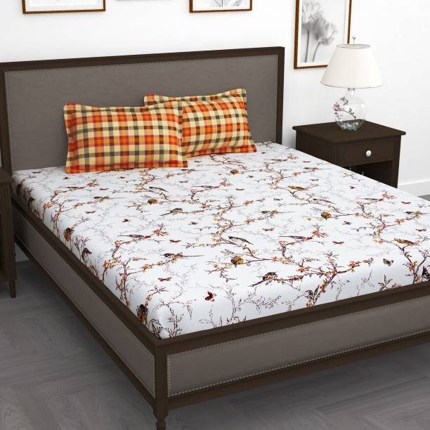 Story@home 186 TC Cotton Double King Printed Bedsheet