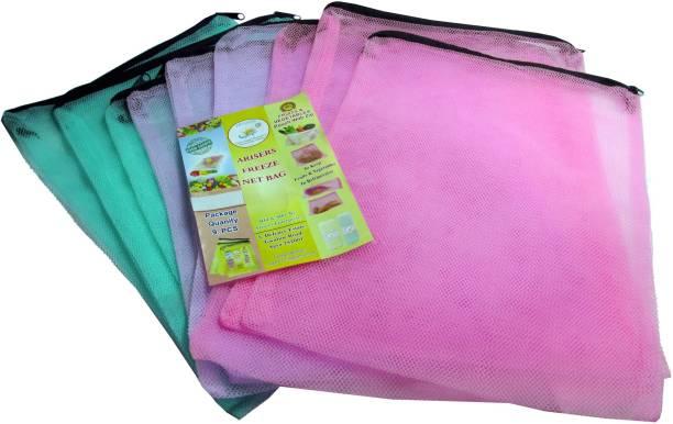 Arisers fridge fruit and vegetable storage bag Pack of 9 Grocery Bags