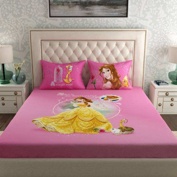 SPACES 180 TC Cotton Double Cartoon Bedsheet