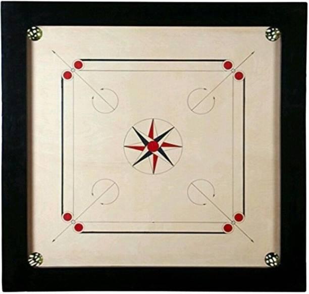 KCRT Small Carrom board 20 inch , Coin set , Stiker , powder 50.8 cm Carrom Board