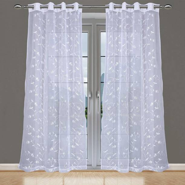 JVIN FAB 243.84 cm (8 ft) Polyester Long Door Curtain (Pack Of 2)