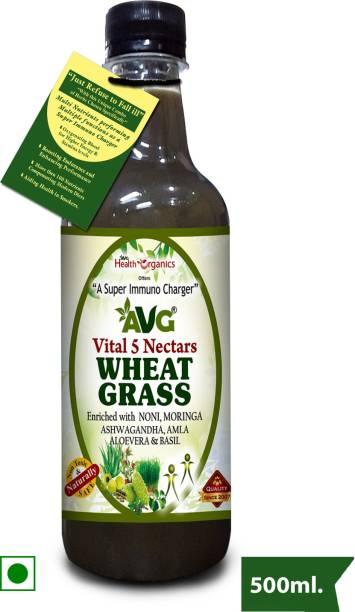 AVG Health Organics Wheat Grass Plus Juice with Ashwagandha 500ml