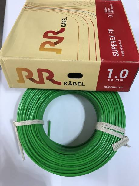 RR KABLE FR-PVC INSULATED 1 sq/mm Green 90 m Wire