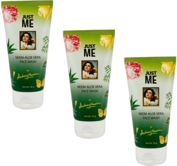 Shahnaz Husain Just me Neem-Aloe Vera Face wash 50gx3pcs Face Wash