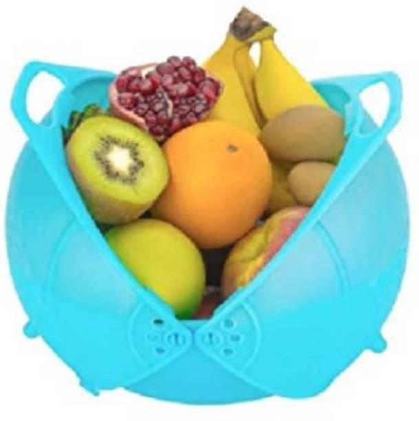 bestonova Machak Plastic Washing Bowl Strainer Cum Basket for Fruits, Vegetables Plastic Fruit & Vegetable Basket