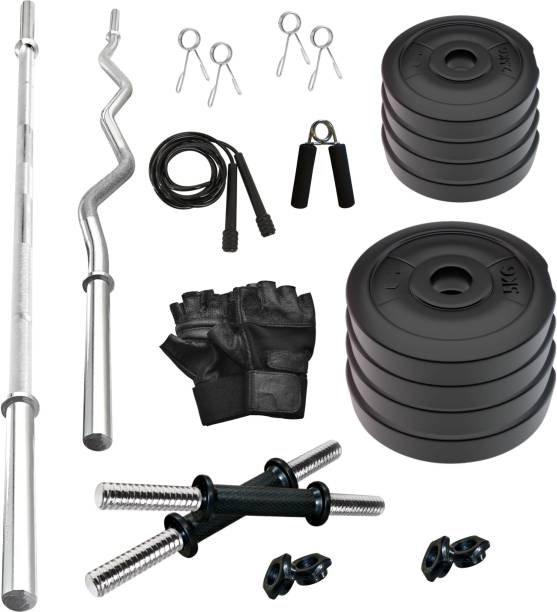 Adrenex by Flipkart 30 kg 30 Kg Fitness Equipments Home Gym Combo Kit 2 with curl and plain rod Home Gym Combo