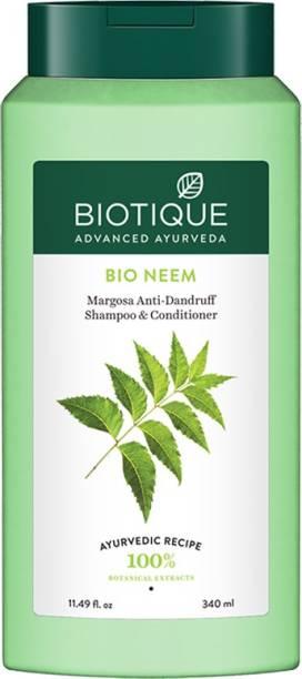 BIOTIQUE Bio Neem Margosa Anti - Dandruff Shampoo & Conditioner 340 ml