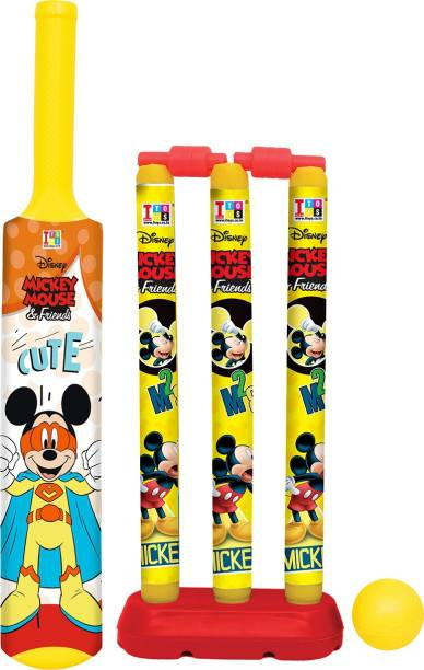 DISNEY Mickey & Friends Bat, Ball & Stumps My First Cricket Kit