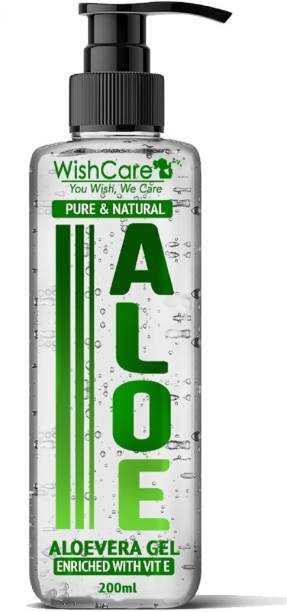 WishCare Pure & Natural Aloe Vera Gel - Enriched With Vitamin E -