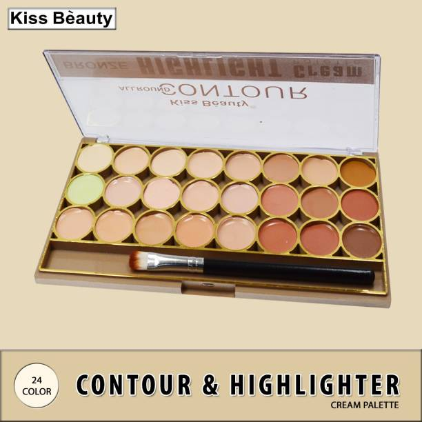 Kiss Beauty All Round Contour Highlight Cream Palette 9464-01 Concealer