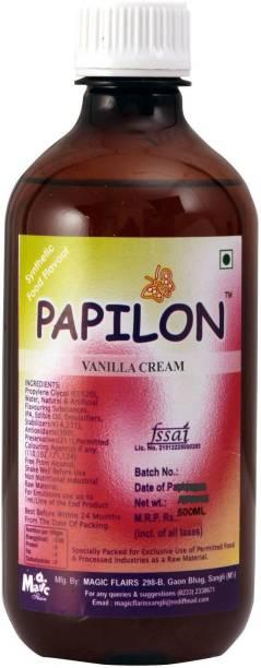 PAPILON CONCENTRATED VANILLA CREAM FLAVOUR 500ML Vanilla Liquid Food Essence