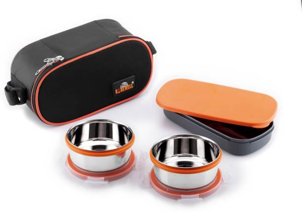 Carewell Royal Double Decker 3 Containers Lunch Box