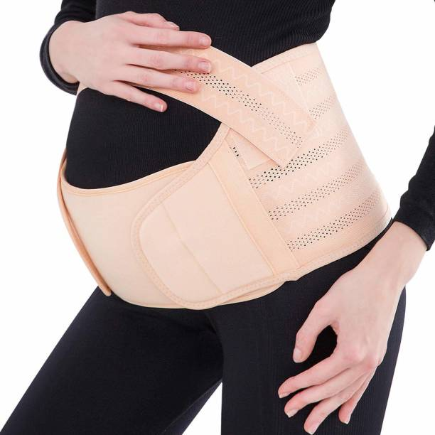 CellFAther Pregnancy Support Belt Brace Maternity Care Supports Abdomen, Belly & Waist During Pregnacy (Beige)