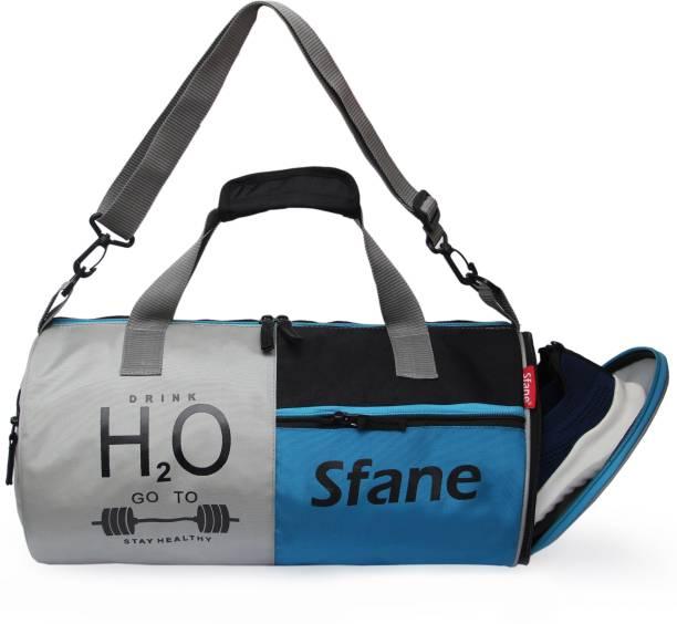 Sfane Blue Separate Shoe Compartment Sports Duffel
