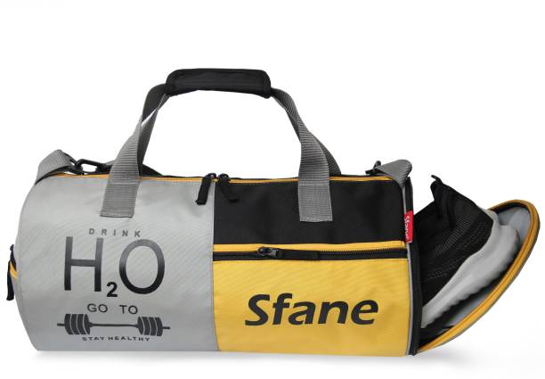 Sfane Yellow Separate Shoe Compartment Sports Duffel