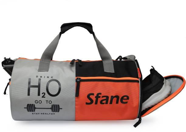 Sfane Orange Separate Shoe Compartment Sports Duffel