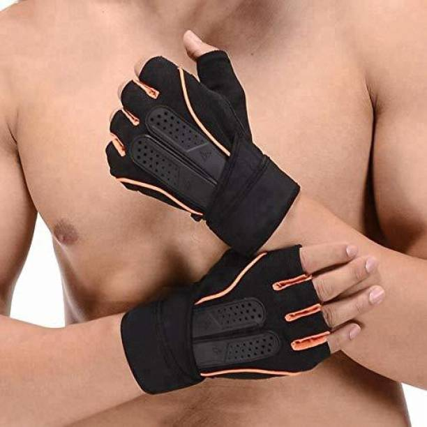 Xfinity Fitness Mens Gym Gloves with 12 inch Wrist Support and Anti Slip Gym & Fitness Gloves