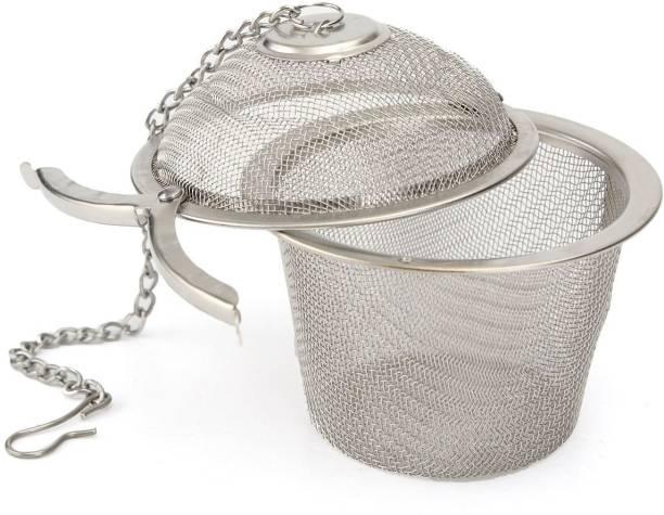 SHUANGYOU Stainless Steel Tea Easy Filter Infuser,Tea Strainer 6.5cm, Silver Tea Strainer