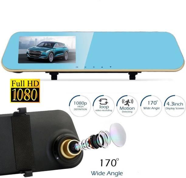 Cave RJ-323 DVR Dash Camera Car DVR Mirror Full HD 1080P 4.3 Inch Dual Lens with Rear View Camera Auto Video Recorder Registratory RJ-323 Vehicle Camera System