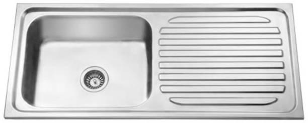 "CROCODILE 45"" X 20"" X 9"" 304 GRADE SINGLE BOWL WITH DRAINBOARD wash basin1 Vessel Sink"