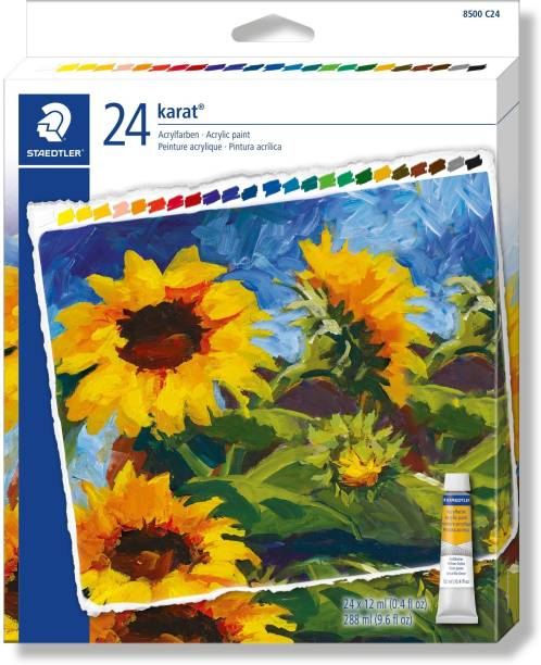 Staedtler Karat Acrylic paint tubes 8500 C24 assorted colors 24