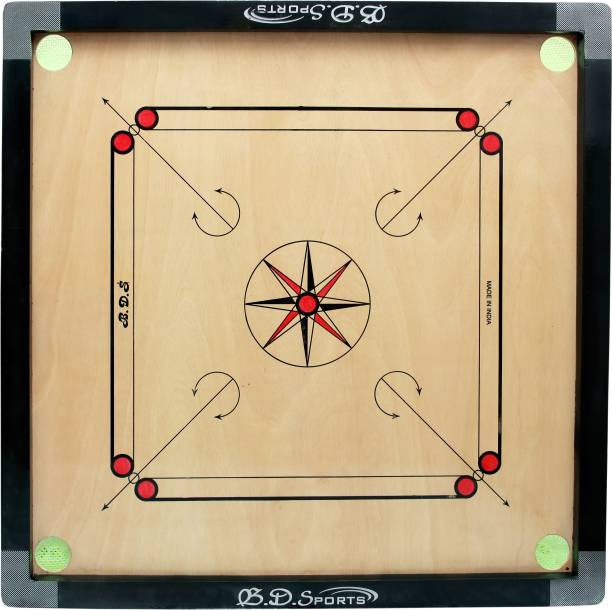 Bd sports Small size carrom board with coinset, striker and powder 50.8 cm Carrom Board