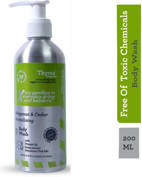 Thyme Organic Bergamot & Cedar Revitalising Body Wash with Vitamin B5- Toxic Chemical Free