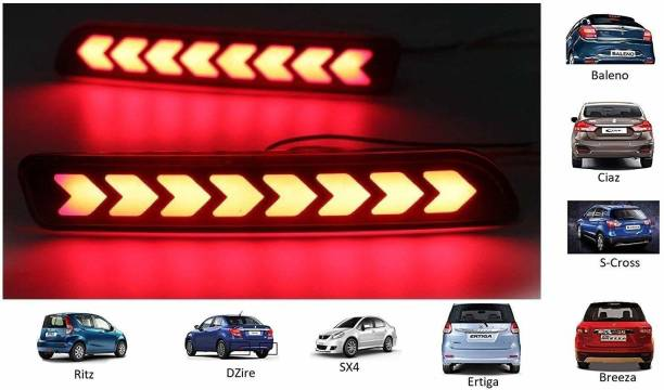 IMMUTABLE LED Car Reflector Rear Brake Light Bumper for all Maruti cars T25 Car Reflector Light