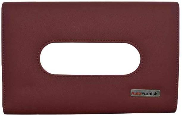 AutoFurnish Premium Car Sun Visor Tissue Holder Box with Free Tissues Vehicle Tissue Dispenser