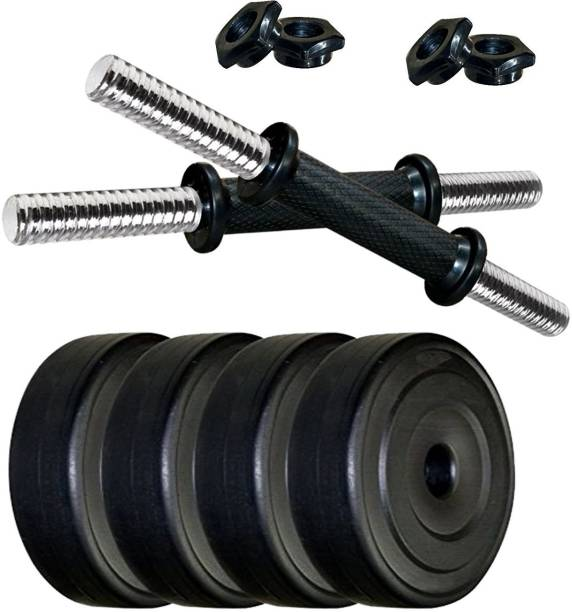 Gowin 10KG Dumbbell Set / Dumbbell Plates with 1 Pair Dumbbell Rods Black Bar & Plate Combo