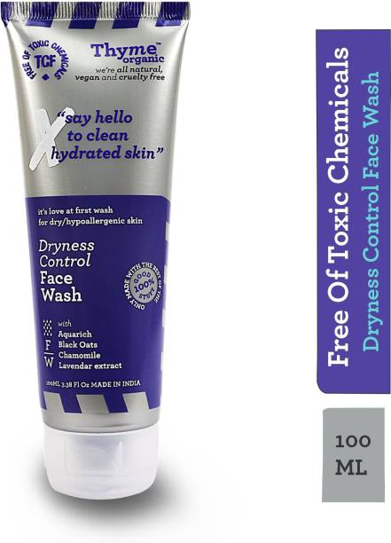 Thyme Organic Dryness Control  -Hydrates Skin - Toxic Chemical Free Face Wash